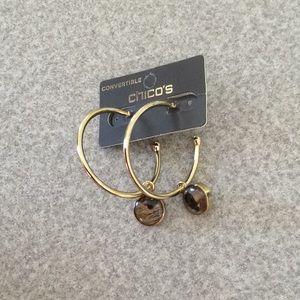 Chico's Luna Reversible Hoop Earrings - NWT